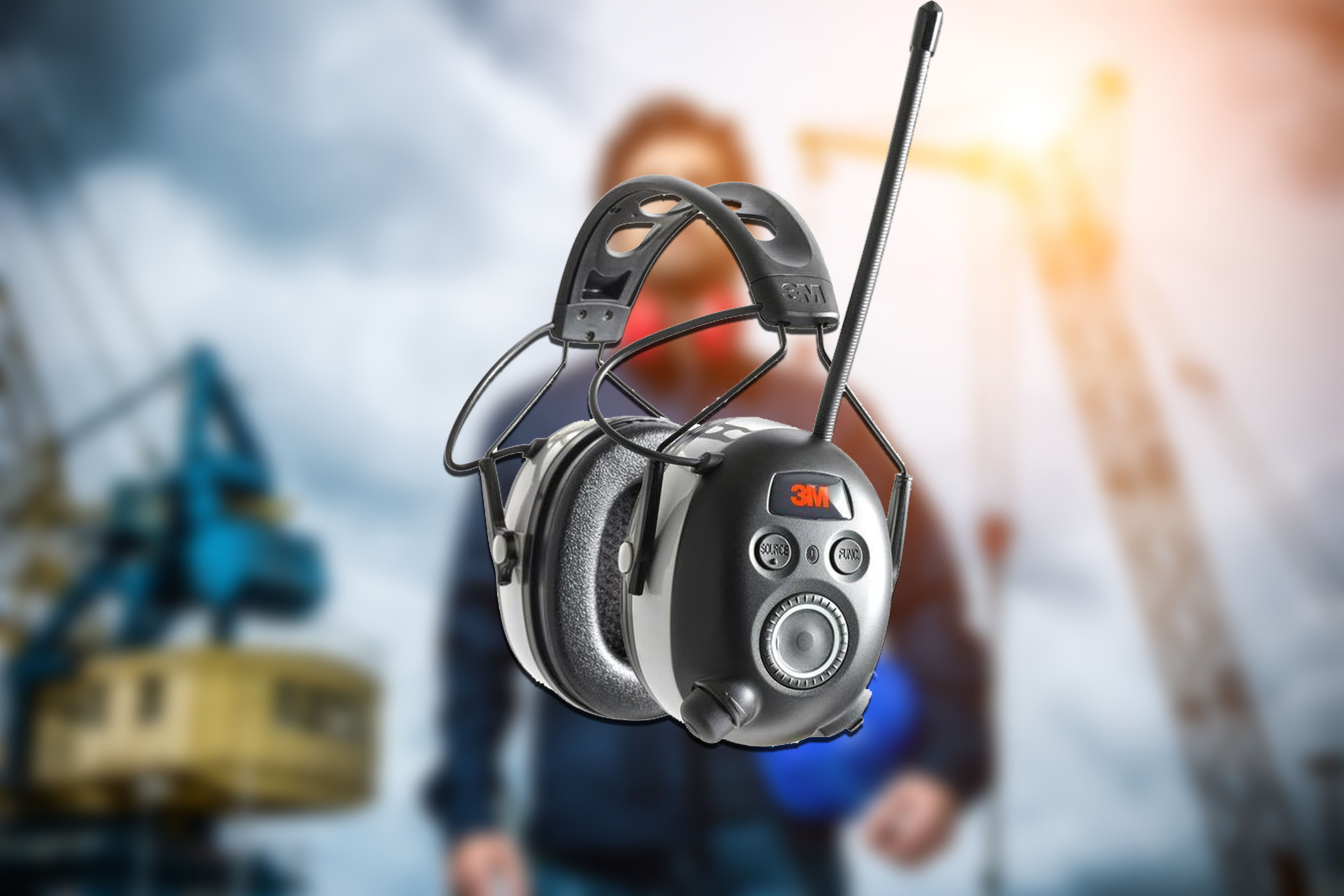 7b8c7176e79 3M Worktunes Wireless Hearing Protection with Bluetooth Technology and AM/FM  Radio