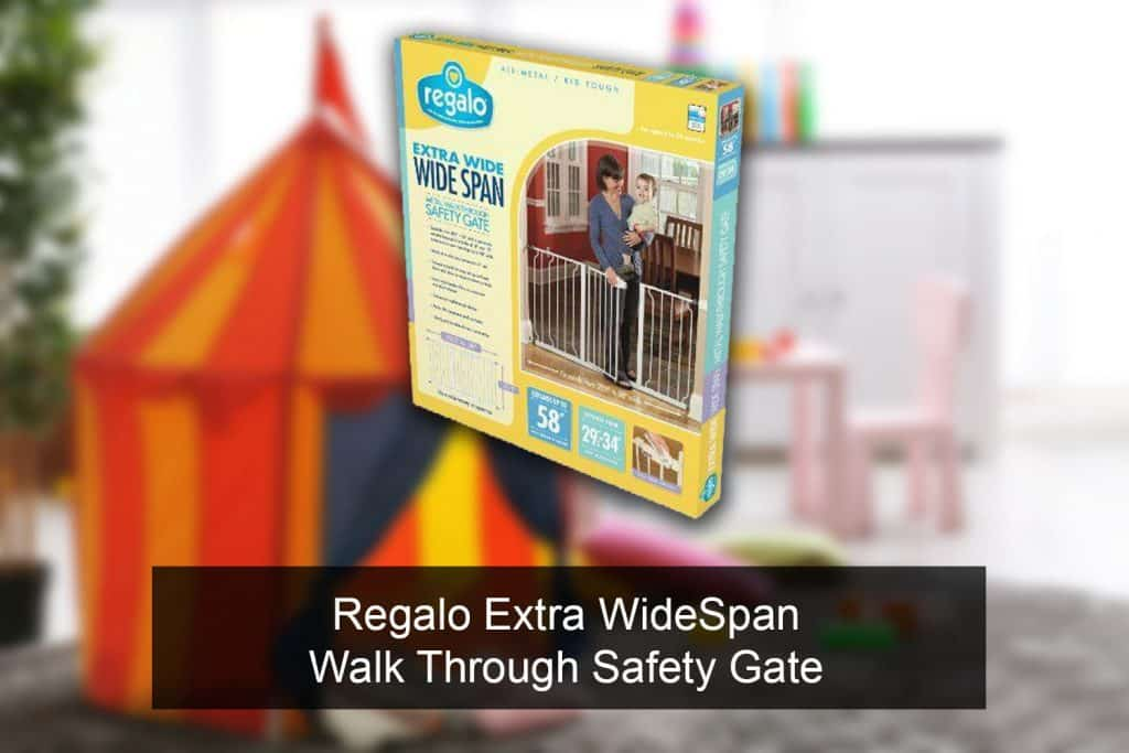 Regalo Extra WideSpan Walk Through Safety Gate release