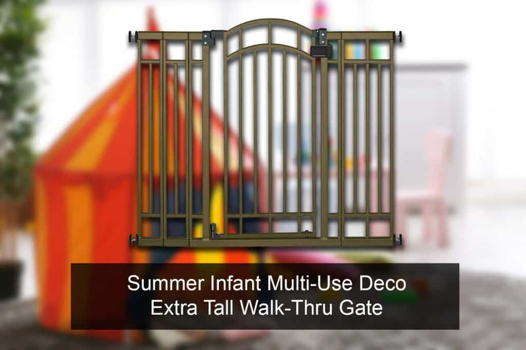Summer Infant Multi-Use Deco Extra Tall Walk-Thru Gate release