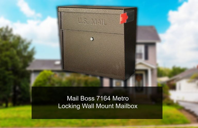 Mail Boss 7164 Metro Locking Wall Mount Mailbox release